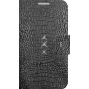 Husa Safari Croco White Diamond Samsung Galaxy S6 G920 Negru