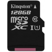 Card de memorie Kingston microSDXC, 128GB, 45 MB/s Citire, 10 MB/s Scriere, Clasa 10