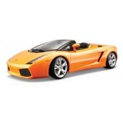 Bburago 28-35203 Gold Lamborghini Gallardo Spyder - Modellino in scala 1:18, 2 colori assortiti, 1 pz