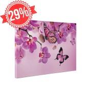 Rózsaszín pillangók - Vászonkép - 30x40 cm