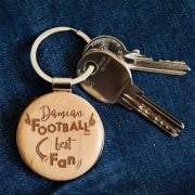 MyGiftDna Football Best Fan - Brelok drewniany - Drewniany brelok