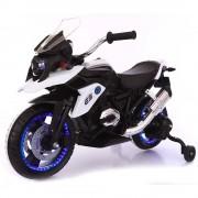 kid go Moto Motocicletta Elettrica Moto Flower Bianca 12v Per Bambini