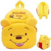 Personalized Yellow and Red Pooh Baby Bag Stuffed Soft Plush Toy