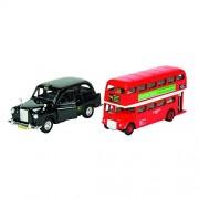 Goki - 2042039 - Véhicule Miniature - London Bus + Taxi De L'injection