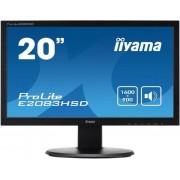 "Monitor TN iiyama 19.5"" ProLite E2083HSD-B1, DVI-D, VGA, 5ms, Boxe (Negru)"
