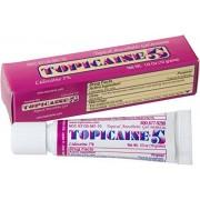 TOPICAINE 5 Net Wt. 1/3 OZ (10 grams) Lidocaine Gel Anesthetic Anorectal Skin Numbing Gel