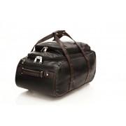 Mboss Multi Use Faux leather Unisex Black Small Travel Bag - Medium(Black)