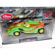 Disney / Pixar Cars Chase Edition 1:43 Die Cast Car in Plastic Case Rip Clutchgoneski (Metallic Gold Paint)
