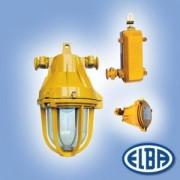 Robbanásbiztos lámpa AV 02 125W II2G Exde II B T3 CAE x 2 kábelbevezető, izzóval IP54 Elba
