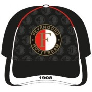 Cap feyenoord junior zwart/rood/wit all-over
