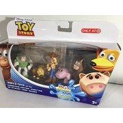 Disney/Pixar Toy Story - Andy's Toys Gift Pack - Running Buzz Lightyear, Slinky Dog, Hat Tip Woody, Hamm and Bullseye