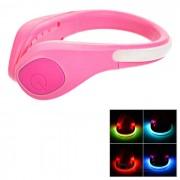 CTSmart colorida 2-Modo de seguridad Zapatos de pulsera de LED Clip - rosa de color rosa oscuro +