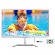 Monitor Philips 246E7QDSW, 24'', LED, FHD, PLS, HDMI, MHL, lesk.biely