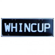 """Novelty Number Plate - Whincup White On Black"""