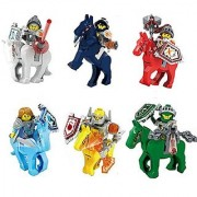 Knights with Horses Future Knight Castle Warrior Minifigures Building Blocks Bricks New 100% Compatible
