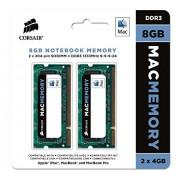 Corsair CMSA8GX3M2A1333C9 Apple Mac Kit di Memoria da 8 GB (2x4 GB), DDR3, 1333 MHz, Apple Certified, SODIMM