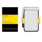 Moleskine - Karierter Notizblock, Large, Hardcover, schwarz