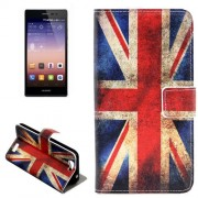 Retro UK Flag Pattern Horizontal Flip Leather Case with Holder & Card Slots for Huawei Ascend G7