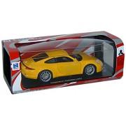 NEWRAY 71296 - Porsche 911 Carrera 4, Scala 1:24, Die Cast, Giallo