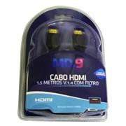 Cabo HDMI M x HDMI M 1.4 1,50 metros Preto com Filtro
