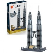 Little Treasures Petronas Twin Towers Of Kuala Lumpur located in Malaysia - Building Blocks 1160 Pcs Set - Compatible With Other Building Bricks Brands - World's Great Architecture Building Complex