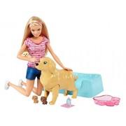 Barbie Newborn Pups Doll & Pets Playset