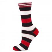 Randiga strumpor Röd-Svart-Vit - Svart - Vit 36-40 Universal