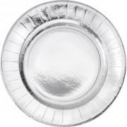 Set 8 farfurii argintii Craciun 23 cm