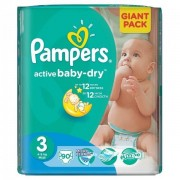 Scutece Active Baby 3 Giant Pack, 90 buc, Pampers