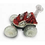 RC Force Radio control RED Car Vehicle Medium Stunts Fun Flips and Turns size w/ lights and music Happy Valentines Day