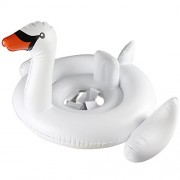 New Super Cute Swan Floating Water Pool Ride-On Swimming Ring toy (White)