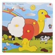 Skillofun Wooden Theme Puzzle Standard Ostrich Knobs, Multi Color