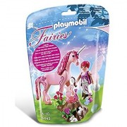 Playmobil 5443 - Care Fairy with Unicorn Rose Red