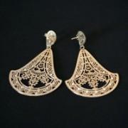 Earring Gold Plated Jewelry Semi Maxi Large Stylus