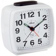 Atlanta despertador de cuarzo analógico blanco 1561-0