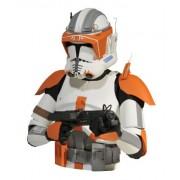 Diamond Select Clone Wars Commander Cody Bust Bank, Multi Color