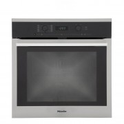 Miele ContourLine H6160BP CleanSteel Single Built In Electric Oven - Stainless Steel
