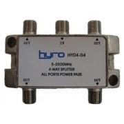 Splitter 4-vägs 5-2400 MHz