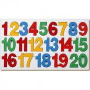 Wooden Toys COUNTING INSET PUZZLE-1 TO 20