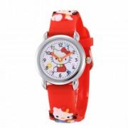 WoMaGe Hello Kitty-s gyermek óra piros szíjjal