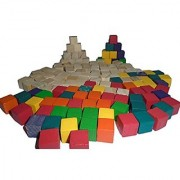 Butler In The Home 140 Count Bag Of 5/8 Cube Wood Art Craft Math Counting Or Small Building Blocks For Kids - 70 Unfini