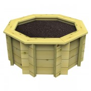 4ft Octagonal 44mm Wooden Raised Bed 295mm High
