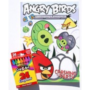 Angry Birds Crashing The Party Giant Coloring And Activity Book With Cra Z Art Crayons