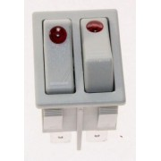 Delonghi Double Switch Canal 16A-250V (Lamp) Grey (5108005200)