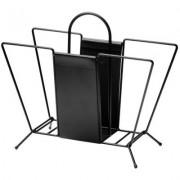 Suitcase tidningskorg, svart