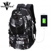 VKINGVSIXV6 boys Swissgear school bags backpack for teenagers USB Travel Waterproof laptop backpacks computer mochila schoolbags