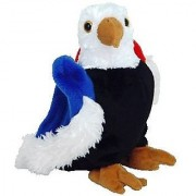 Ty Beanie Babies - Free the Eagle with Black Chest Red & Blue Wings