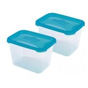 Heidrun Polar Frost 2 darab téglalap alakú ételtároló edény 2,4 literes - 401752