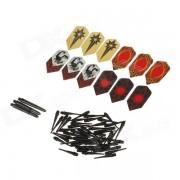 WMG08528 Professional Deluxe Plastic + PET Dart Accessory Kit - Multicolored