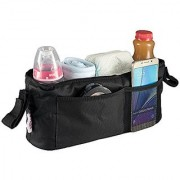 Universal Stroller Organizer Bag By Kidluf - 2 Cup Holders & Accessories Storage Bag for Strollers - With Front Pocket f
